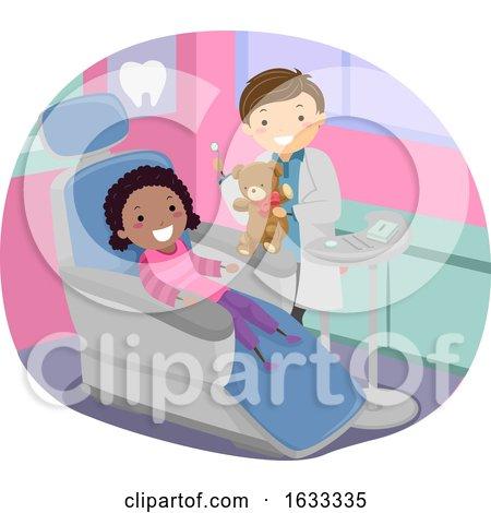 Stickman Kid Girl Dentist Toy Illustration by BNP Design Studio