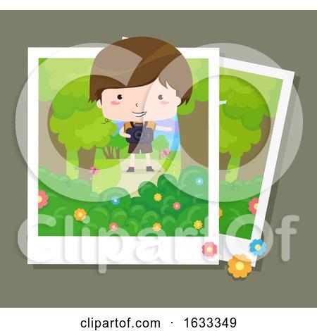 Kid Boy Nature Photography Illustration by BNP Design Studio