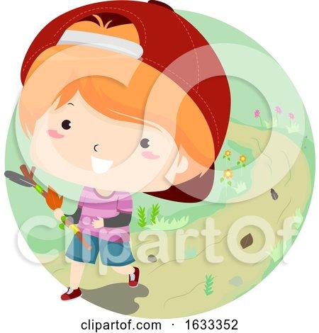 Kid Boy Journey Stick Illustration by BNP Design Studio