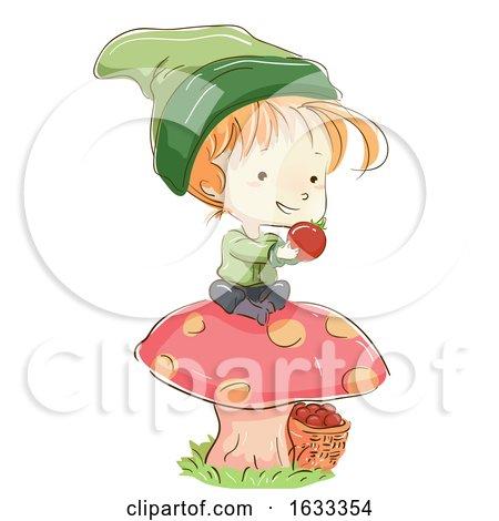 Kid Boy Gnome Tomato Harvest Illustration by BNP Design Studio