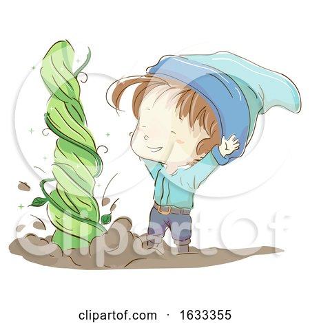 Kid Boy Gnome Plant Grow Illustration by BNP Design Studio