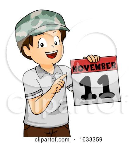 Kid Boy Calendar Date Veterans Day Illustration by BNP Design Studio