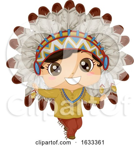 Kid Boy Native American Chief Costume Dance by BNP Design Studio