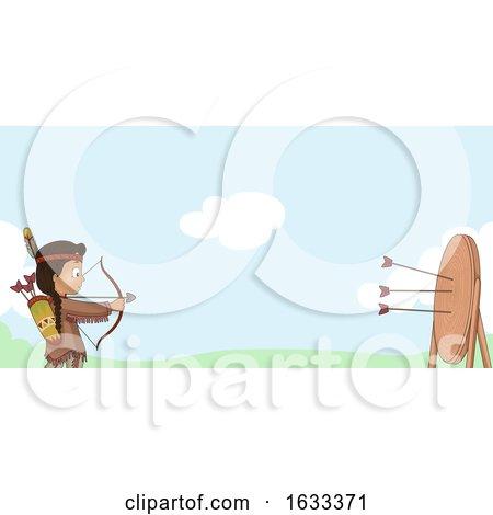 Kid Boy American Indian Bow Arrow Shoot Outdoors by BNP Design Studio