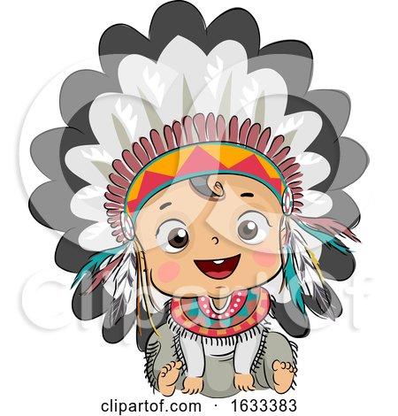 Kid Boy Baby Native American Head Dress by BNP Design Studio