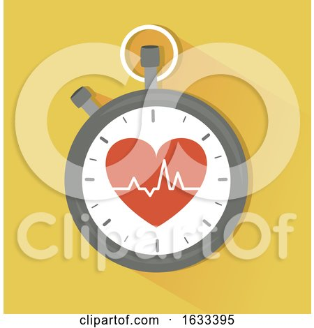 Stopwatch Heart Beat Illustration by BNP Design Studio