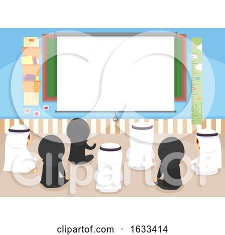 Stickman Kids Class Projector Illustration by BNP Design Studio