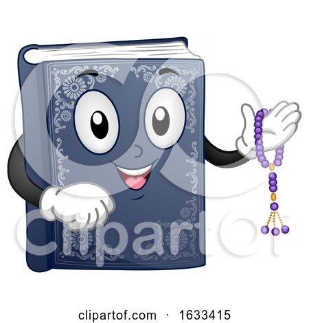 Mascot Book Quran Prayer Beads Illustration by BNP Design Studio