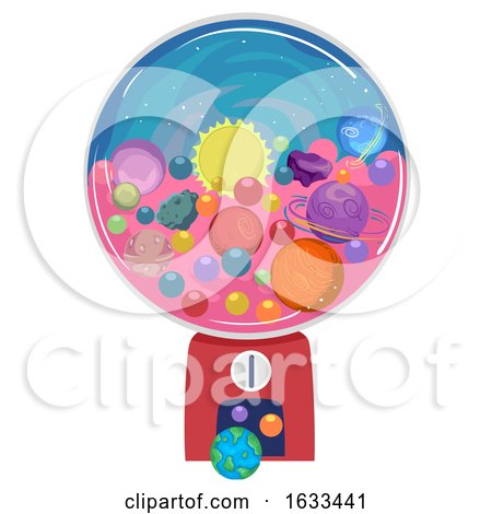 Candy Machine Planets Illustration by BNP Design Studio