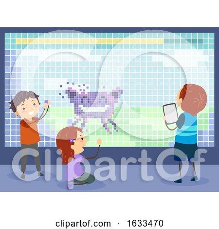 Stickman Kids Making Video Game Illustration by BNP Design Studio