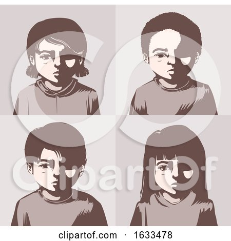 Kids Miserable Concept Illustration by BNP Design Studio