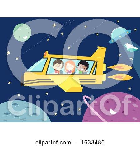 Kids Student School Spaceship Illustration by BNP Design Studio