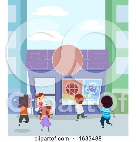Stickman Kids Arcade Shop Illustration by BNP Design Studio