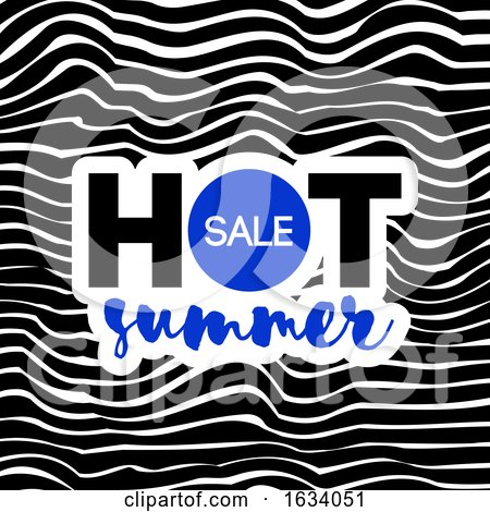Hot Summer Sale Text on Wavy Background by elena