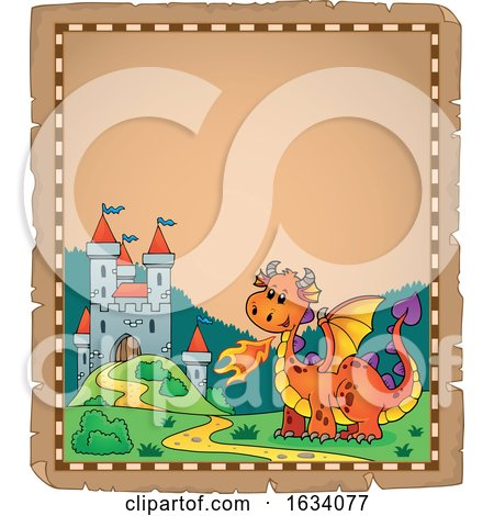 Dragon and Castle Border by visekart