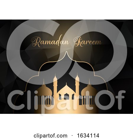 Low Poly Ramadan Kareem Background by KJ Pargeter