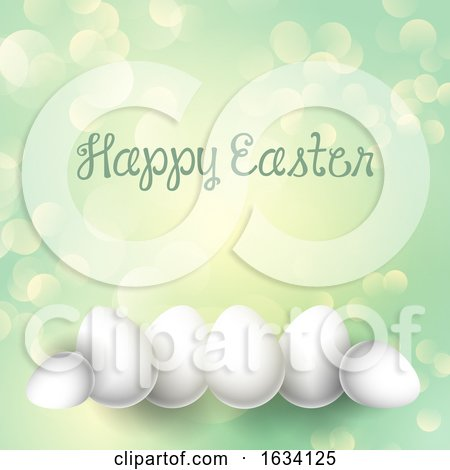 Easter Eggs on a Bokeh Lights Background by KJ Pargeter