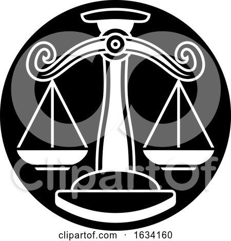 Libra Scales Zodiac Astrology Sign by AtStockIllustration