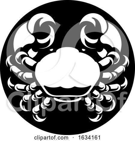 Cancer Crab Zodiac Horoscope Sign by AtStockIllustration