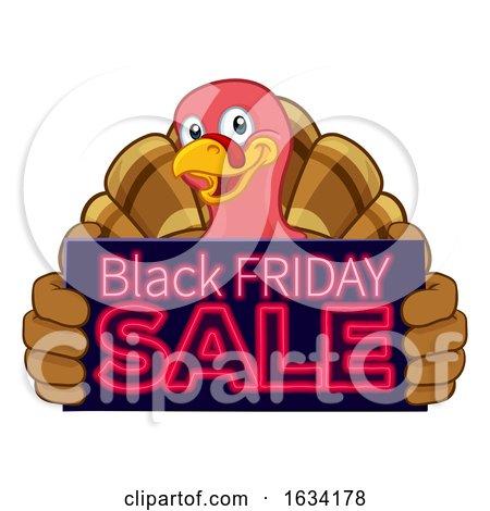 Turkey Black Friday Sale Cartoon by AtStockIllustration