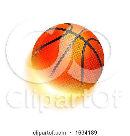 Basketball Sport Ball in Fire by Oligo