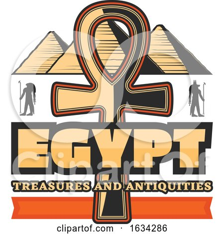 Ancient Egyptian Hieroglyph Ankh Symbol by Vector Tradition SM