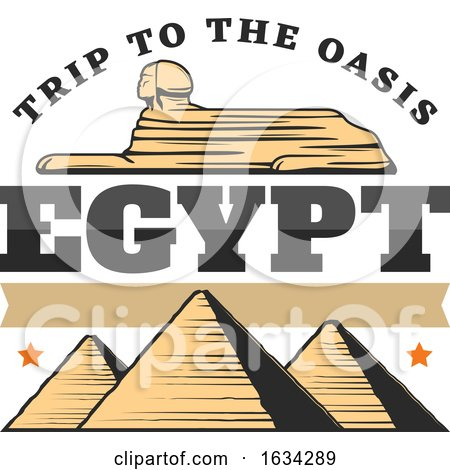 Egyptian Sphinx and Pyramids by Vector Tradition SM