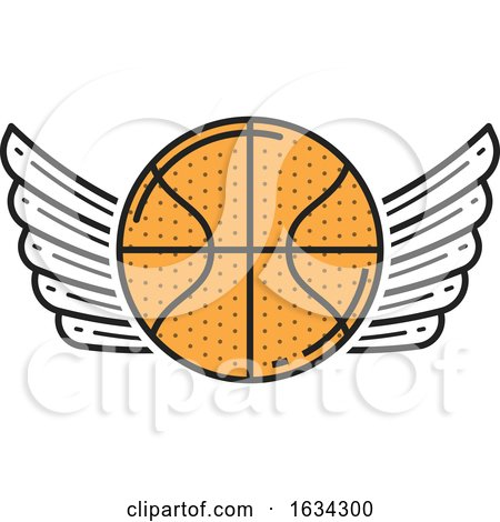 Winged Basketball Sports Design by Vector Tradition SM
