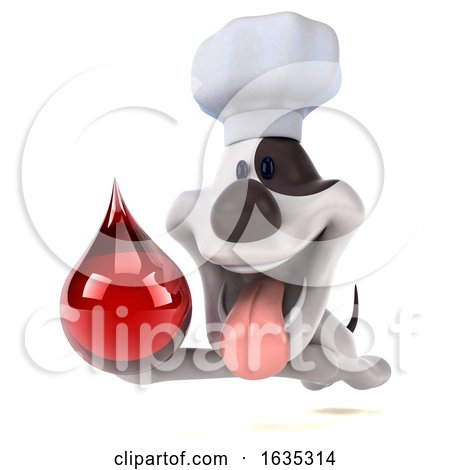 3d Jack Russell Terrier Dog Chef, on a White Background by Julos