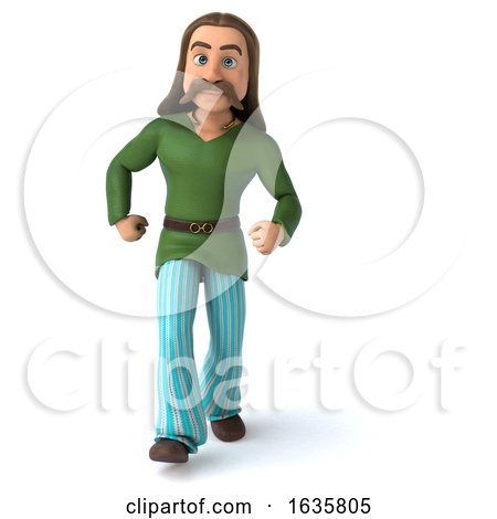 3d Gaul Man, on a White Background Posters, Art Prints