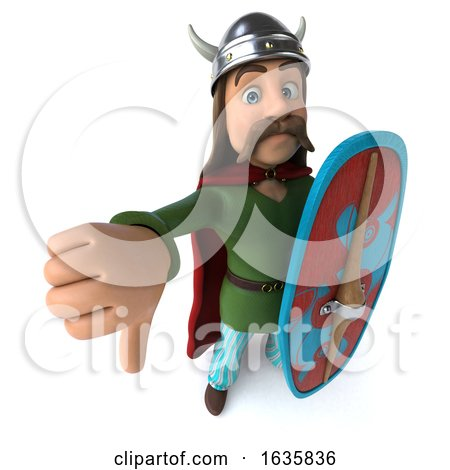 3d Gaul Warrior, on a White Background by Julos