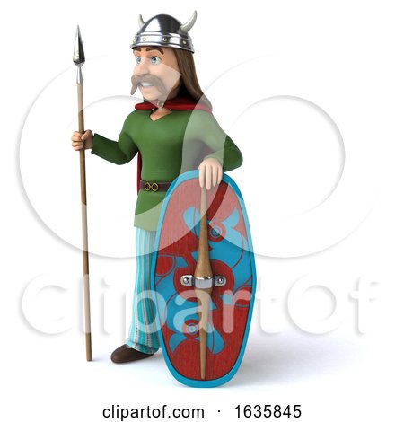 3d Gaul Warrior, on a White Background Posters, Art Prints