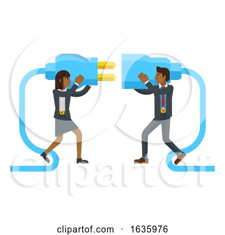Connecting Plug Fitting Together Business Concept by AtStockIllustration