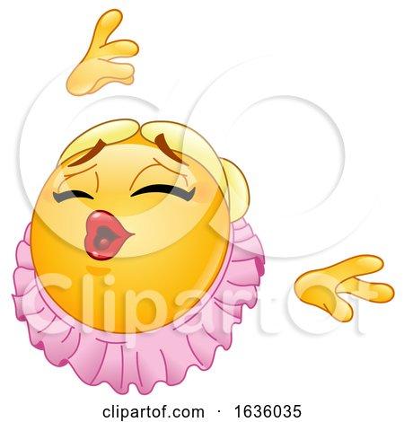 Ballerina Emoji Emoticon Smiley Dancing by yayayoyo