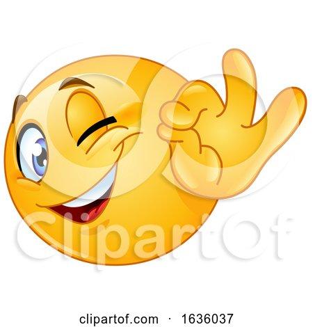 Emoji Emoticon Smiley Winking and Gesturing Perfect by yayayoyo