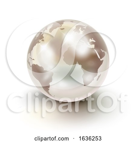 Precious Earth like a White Pearl over White by Oligo