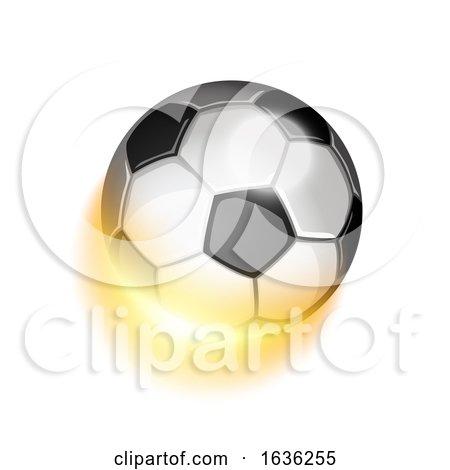 Soccer Sport Ball in Fire by Oligo