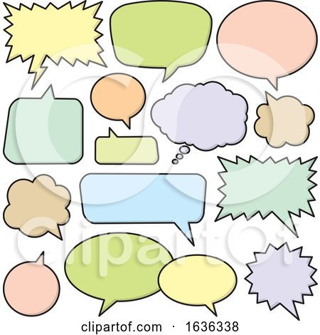 Colorful Speech Bubbles or Balloons by Any Vector