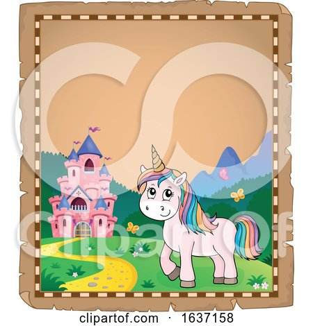 Border of a Unicorn and Castle by visekart