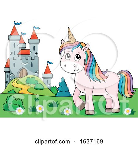 Unicorn and Castle by visekart