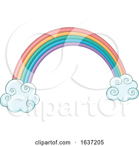 Rainbow and Clouds Posters, Art Prints