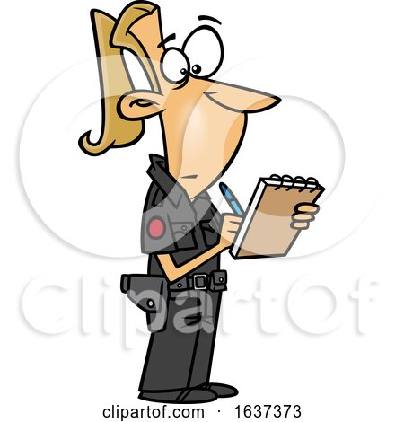 Cartoon Blond White Female Ticket Writer by toonaday