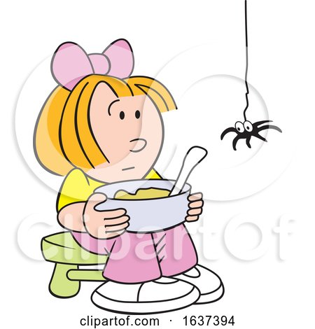Little Miss Muffet and Spider by Johnny Sajem