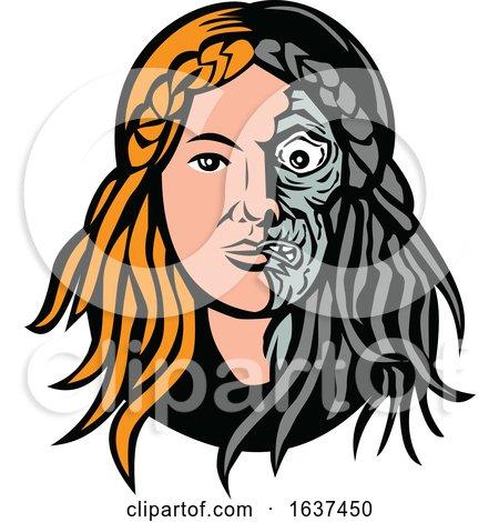Norse Goddess Hel Head by patrimonio
