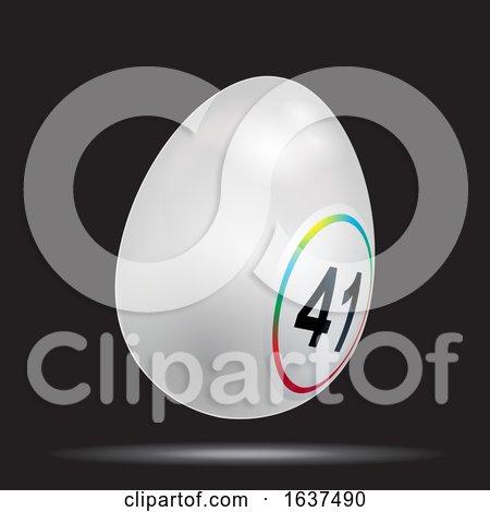White 3D Easter Bingo Lottery Egg on Black Posters, Art Prints