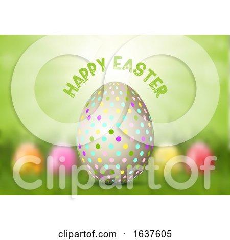 Easter Egg on Defocussed Background Posters, Art Prints