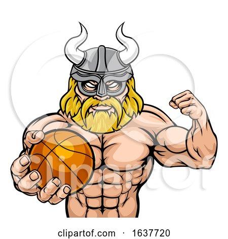 Viking Basketball Sports Mascot by AtStockIllustration