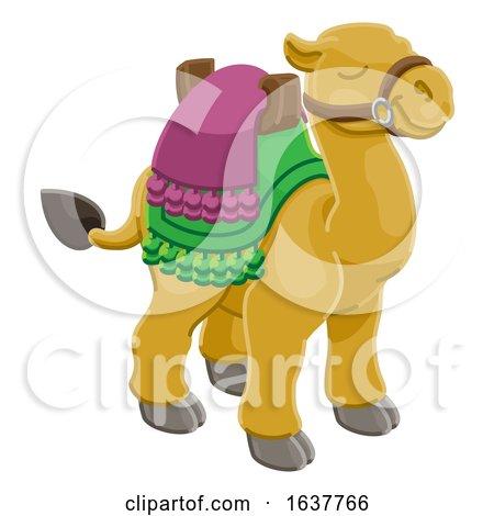 Camel Animal Cartoon Character by AtStockIllustration
