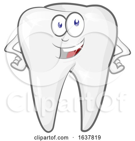 Happy Tooth Character Sparkling by Domenico Condello