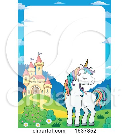 Unicorn and Castle Border by visekart